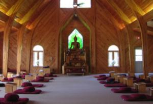 バンテ師のお寺の座禅室